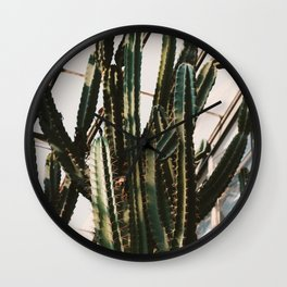 Greenhouse Cactus Wall Clock