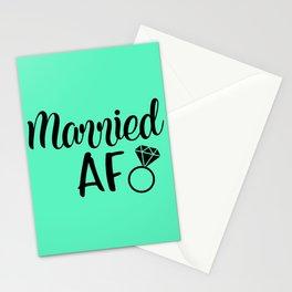 Married AF - Mint Stationery Cards