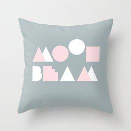 Moonbeam Mountains Throw Pillow