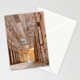 Glowing Prison Corridor Stationery Cards