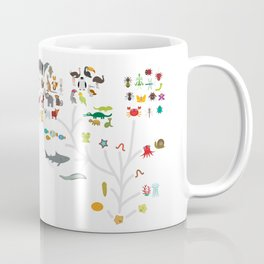 Evolution scale from unicellular organism to mammals. Evolution in biology, scheme evolution of anim Coffee Mug