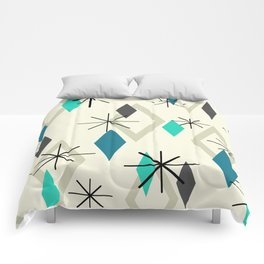 Mid Century Modern Diamonds Comforters