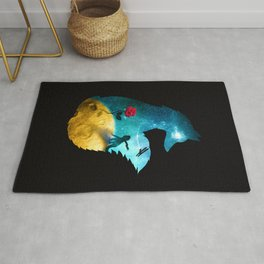 The Most Beautiful Thing (dark version) Rug