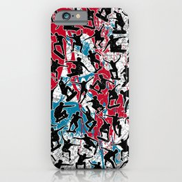 Skater Retro Urban Graffiti iPhone Case