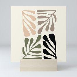 Algae on light off white ground Mini Art Print