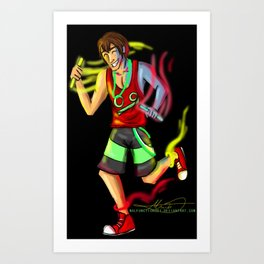 Raving Ryan Art Print