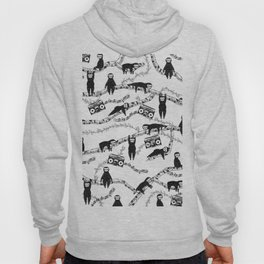 Eighties Music Sloth Pattern Hoody