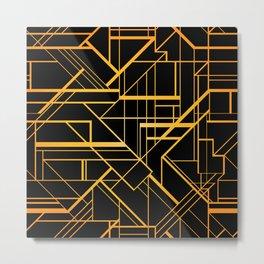 Great Gatsby Style Pattern Metal Print