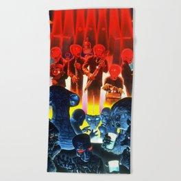 Space Alien Bar Band Beach Towel