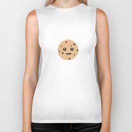 chocolate chip cookie kawaii Biker Tank