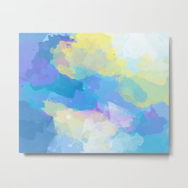 Colorful Abstract - blue, pattern, clouds, sky Metal Print