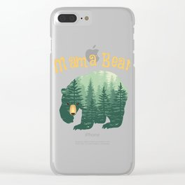 Family Mama Bear Forest for Mom Mother Mommy Clear iPhone Case