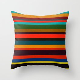 Tropical Sunrise Stripe Study One Throw Pillow