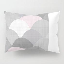 Pink Linen Scoops Pillow Sham