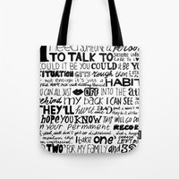 word Tote Bags featuring Word by Etiquette