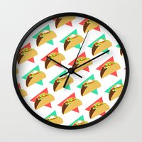 taco Wall Clocks featuring TACO TIME!  by Kaitlin Smith