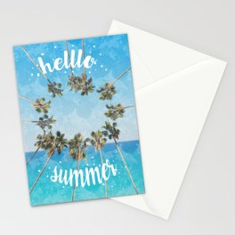 hello summer palm trees design 2 Stationery Cards