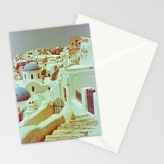 Santorini in Raspberry and Blue II: shot using Revolog 600nm special effects film Stationery Cards