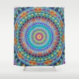 Boho City Mandala Shower Curtain