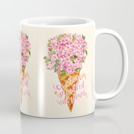 Ice Cream Sprinkled With Flowers Coffee Mug