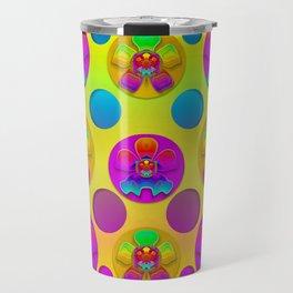 Power flowers in festive flower power festival pop art Travel Mug