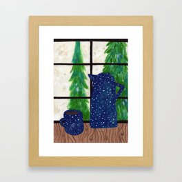 Coffee at Home Framed Art Print