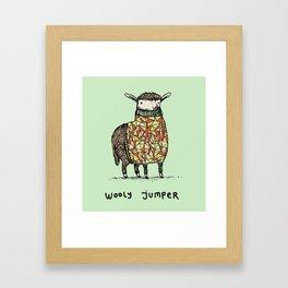 Wooly Jumper Framed Art Print
