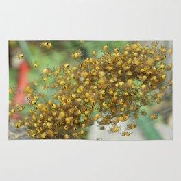 Yellow Spider Babies Rug