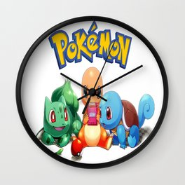 Kanto Starters  Wall Clock