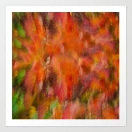 Autumn Smear Art Print