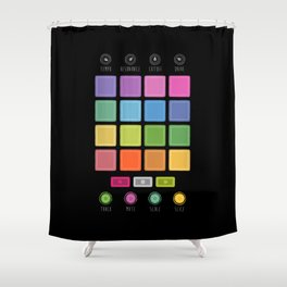 Dj Electronic Music Shower Curtain