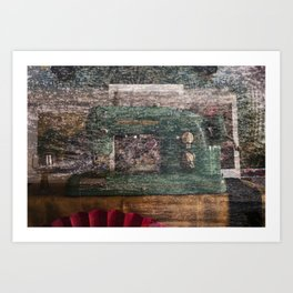 Still life with the old stuff Art Print
