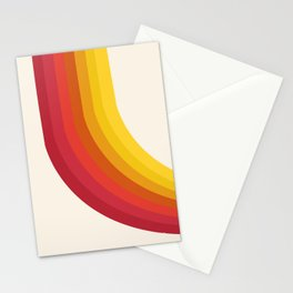 4-Sho - retro 70s style throwback vibes 1970's trendy decor art minimalist rainbow stripes Stationery Cards