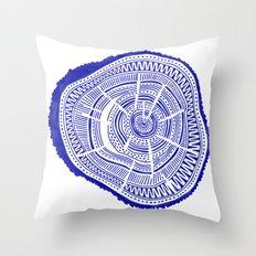 Ponderosa Pine – Navy Palette Throw Pillow