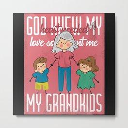 Grandma And Her Present Metal Print