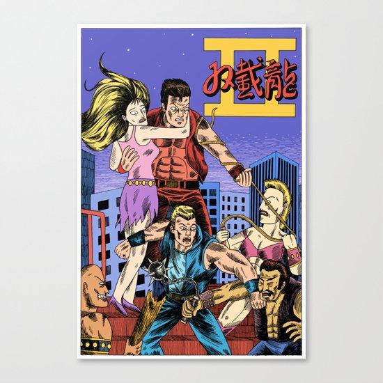 Double Dragon II Canvas Print