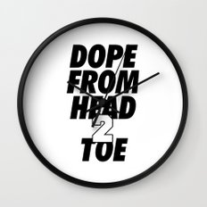 Dope Head 2 Toe Wall Clock