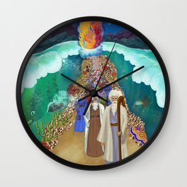 Red Sea Crossing Wall Clock