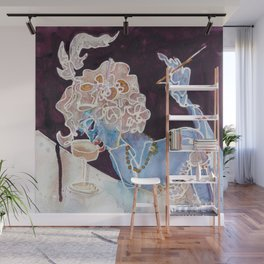 CHAMPAGNE FEMME Wall Mural