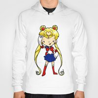 sailor moon Hoodies featuring Sailor Scout Sailor Moon by Space Bat designs