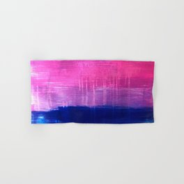 Bisexual Flag: abstract acrylic piece in pink, purple, and blue #pridemonth Hand & Bath Towel
