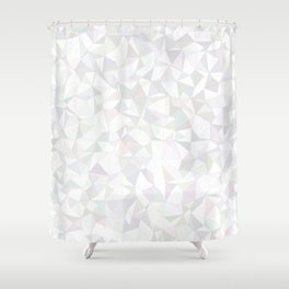 White triangle mosaic Shower Curtain
