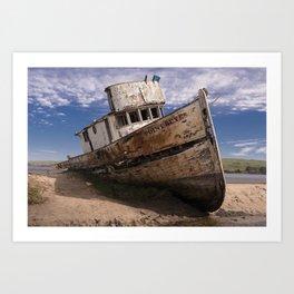 Point Reyes Shipwreck Art Print
