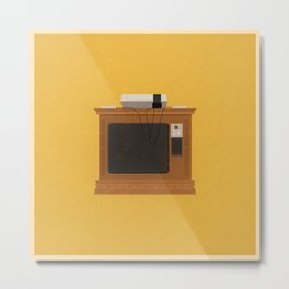 Retro TV and Console Metal Print
