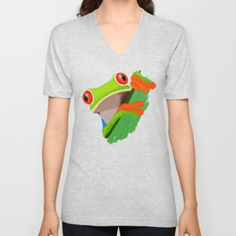 Red-eyed tree frog Unisex V-Neck