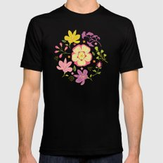 Oriental Blooms Mens Fitted Tee Black MEDIUM