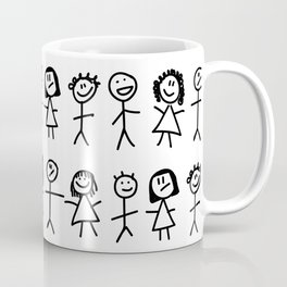 Lots of little stick people Coffee Mug