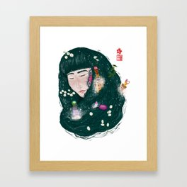 Hair Perfume Framed Art Print