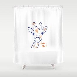 Girafe-Love me Shower Curtain