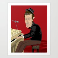 tom waits Art Prints featuring Tom Waits by Oliver Lake